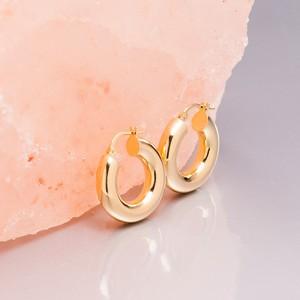 Loel & Co Jewellery Small Thick Gold Hoop Earrings