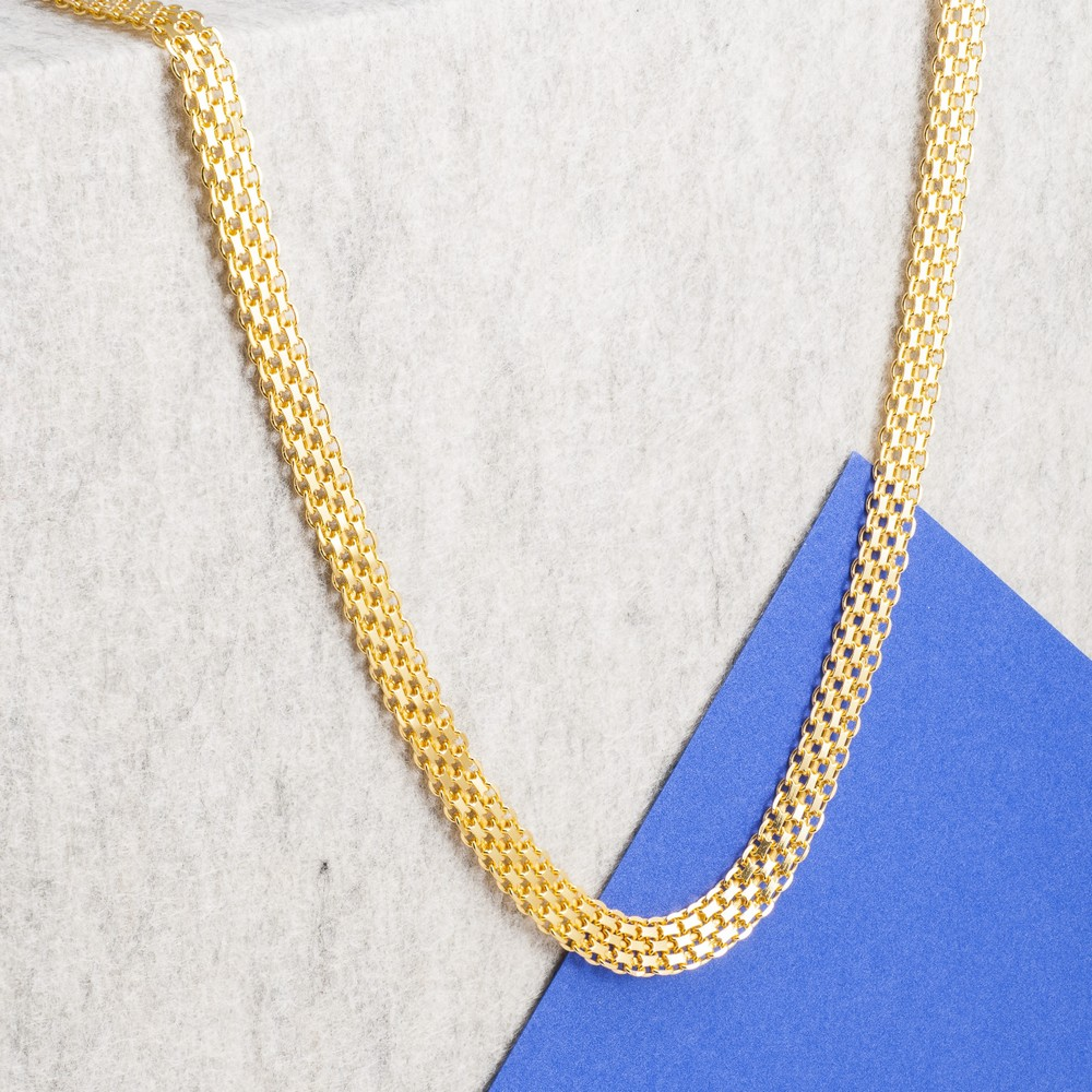 Loel & Co Jewellery Thick Gold Box Chain Necklace Gold