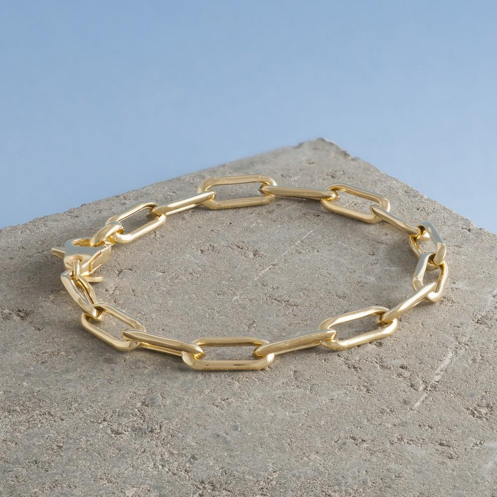 Loel & Co Jewellery Gold Long Link Chain Bracelet Gold