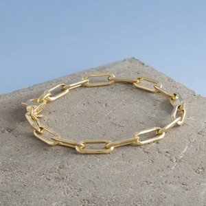 Loel & Co Jewellery Gold Long Link Chain Bracelet