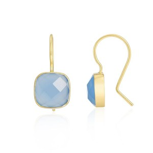 Auree Mondello Gold Earrings in Blue Chalcedony