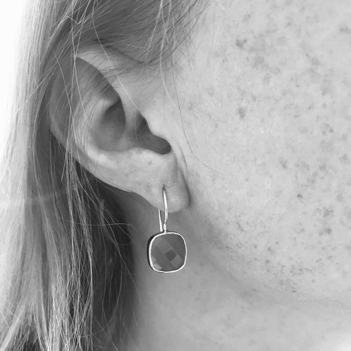 Auree Mondello Gold Earrings in Blue Chalcedony Gold