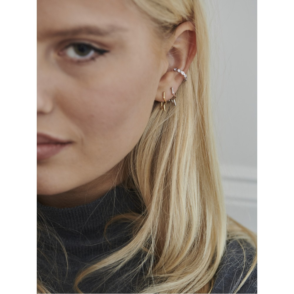 Tada & Toy Gold Star Hoops Gold