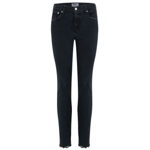 Agolde Toni Mid Rise Straight Jeans in Black