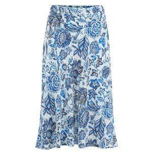 Velvet Aila Printed Challis Skirt in Juniper