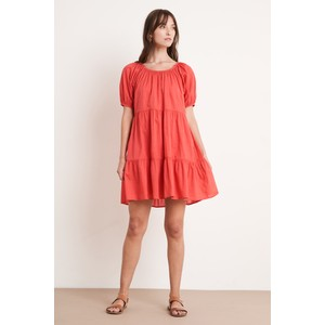 Velvet Renelle Cotton Voile Dress in Hibiscus