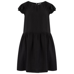 Velvet Evonne Woven Linen Dress in Black