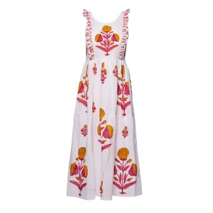 Pink City Prints Botanical Dress in Rhubarb