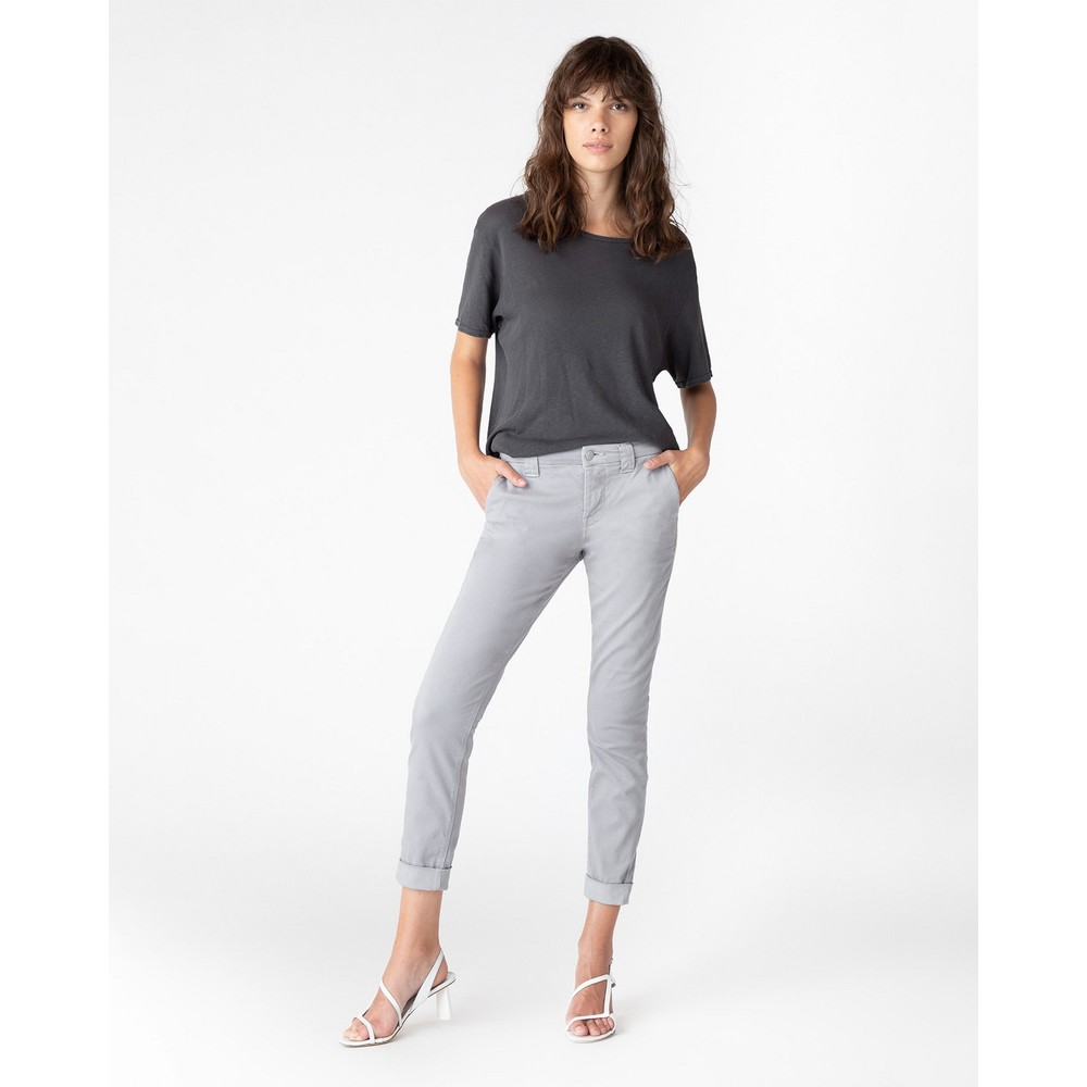 J Brand Paz Slim Taper Trousers in Grey Grey