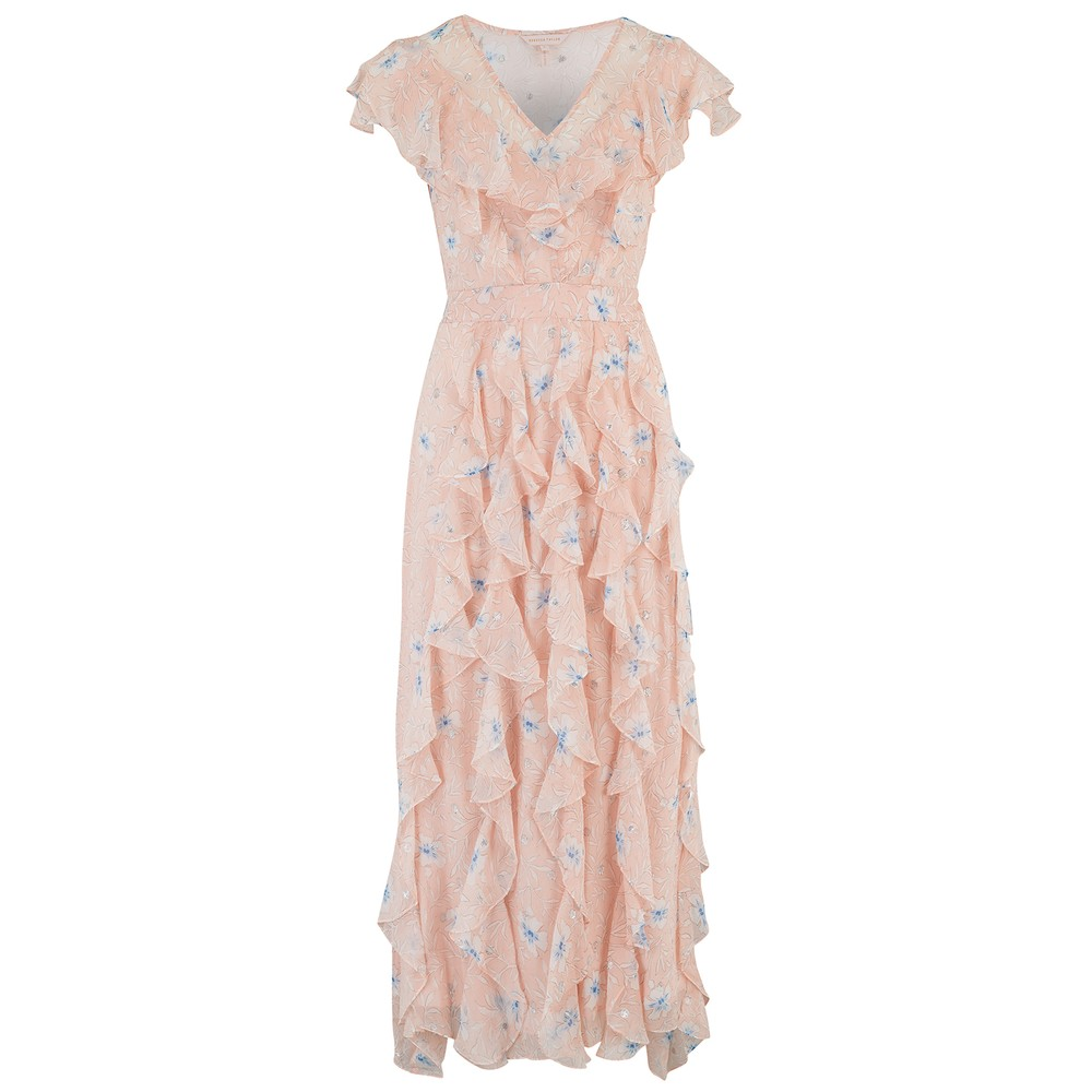 Rebecca Taylor Sleeveless Trellis Dress Pink