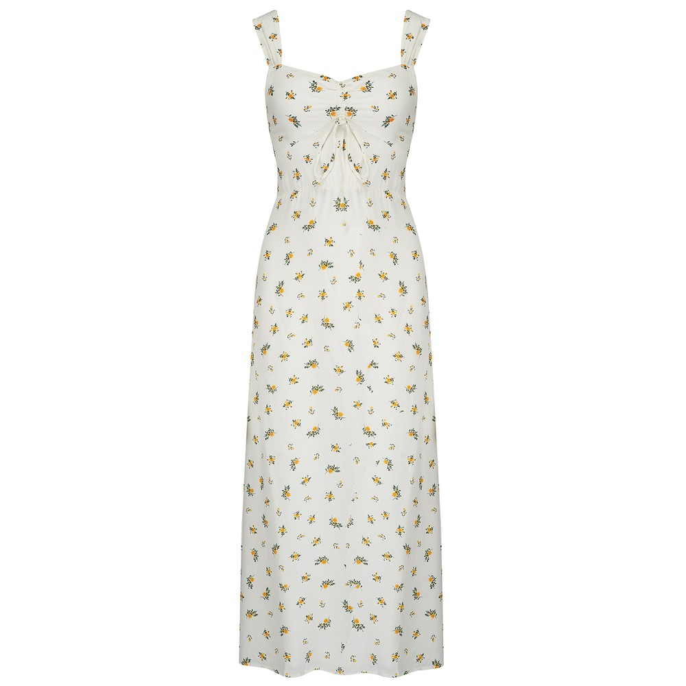 Faithfull The Brand Maeve Midi Dress in Carrie Floral Print White