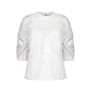Rebecca Taylor Short Sleeve Honeysuckle Blouse