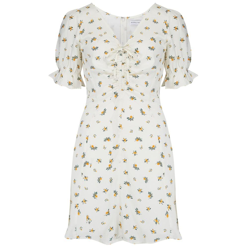 Faithfull The Brand Palma Mini Dress Cream