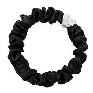 By Eloise Silk Scrunchie in Black