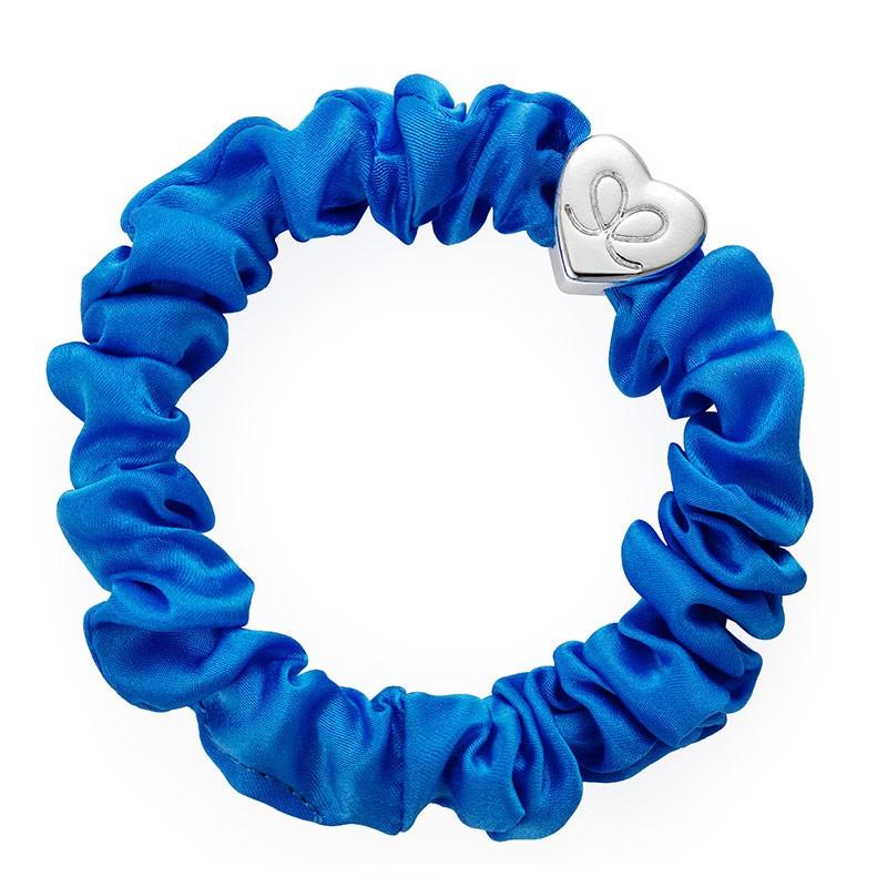 By Eloise Silk Scrunchie in Royal Blue Bright Blue