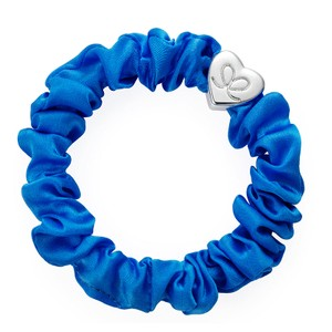 By Eloise Silk Scrunchie in Royal Blue