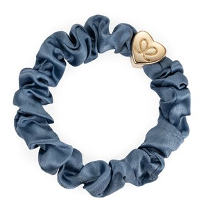 By Eloise Silk Scrunchie in Faded Denim