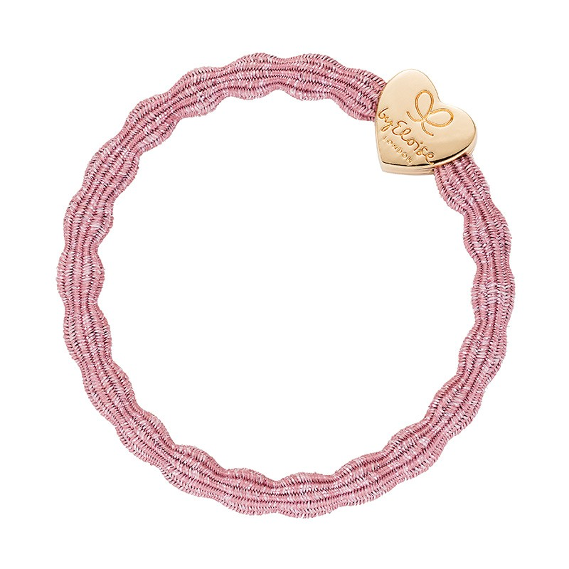 By Eloise Metallic Hair Bands in Rose Pink Pink