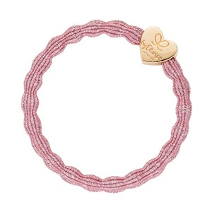 By Eloise Metallic Hair Bands in Rose Pink