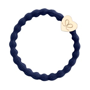 By Eloise Plain Heart Hair Band in Navy