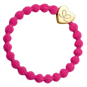 By Eloise Plain Heart Hair Band in Fuschia