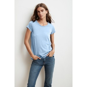 Velvet Tressa Round Neck T-Shirt in Ice
