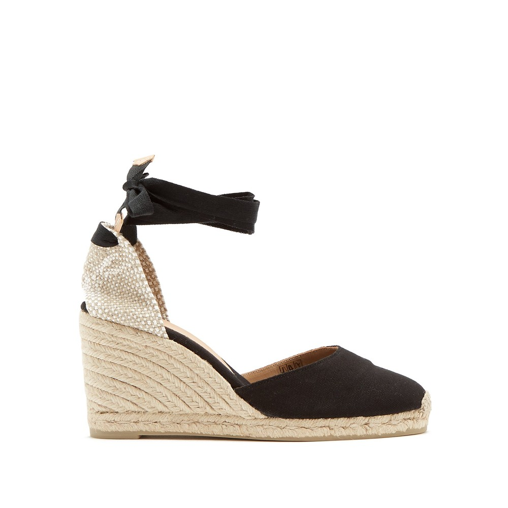 Castañer Carina 80 canvas and jute espadrilles in Black Black