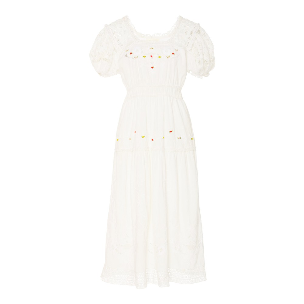 LoveShackFancy Ayden Dress in White White