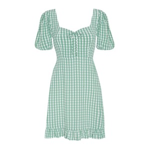 Faithfull The Brand Agathe Check Mini Dress