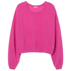 American Vintage Mitibird Jumper in Light Grey in Pink