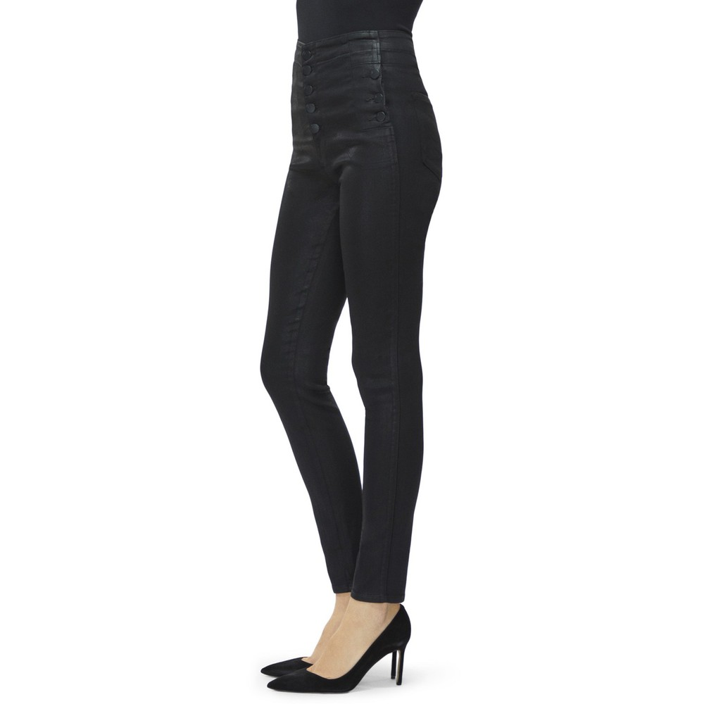J Brand Natasha Sky High Skinny in Leatherette Black