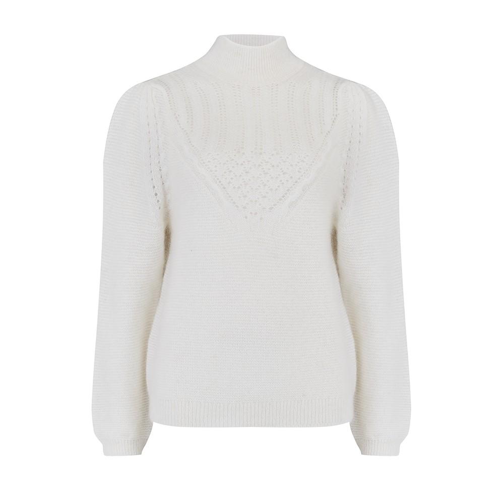 Des Petits Hauts Bisou Sweater in Ecru White