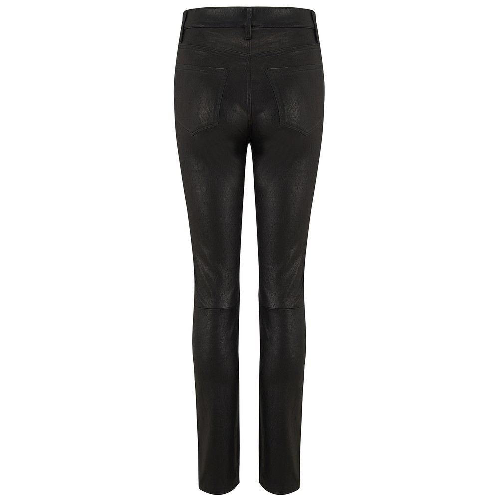 Frame Denim Le Sylvie Straight Leather Black