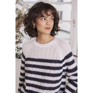 Des Petits Hauts Biscotte Stripe Sweater in Ecru/Marine