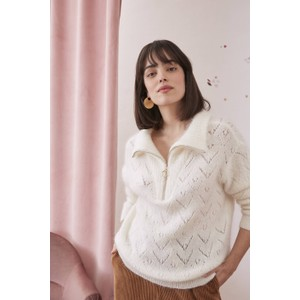 Des Petits Hauts Buzette Sweater in Ecru