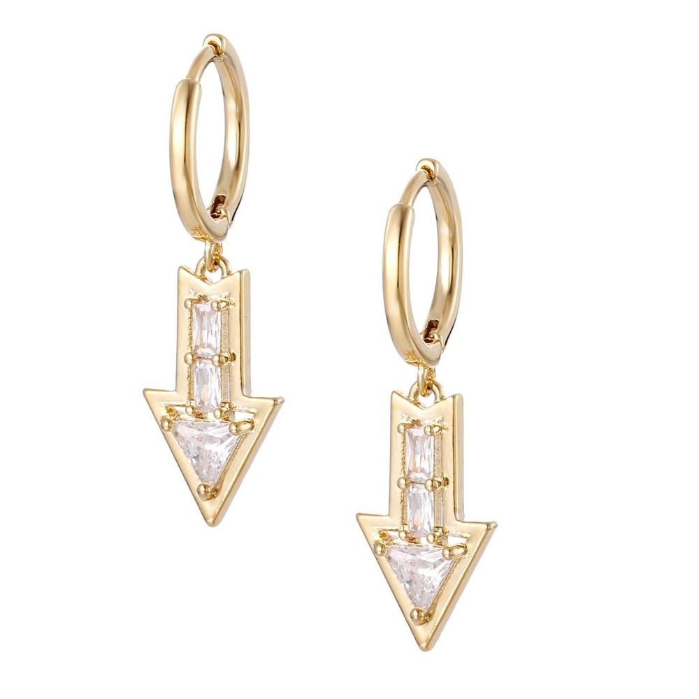 Celeste Starre Poison Arrow Earrings Gold