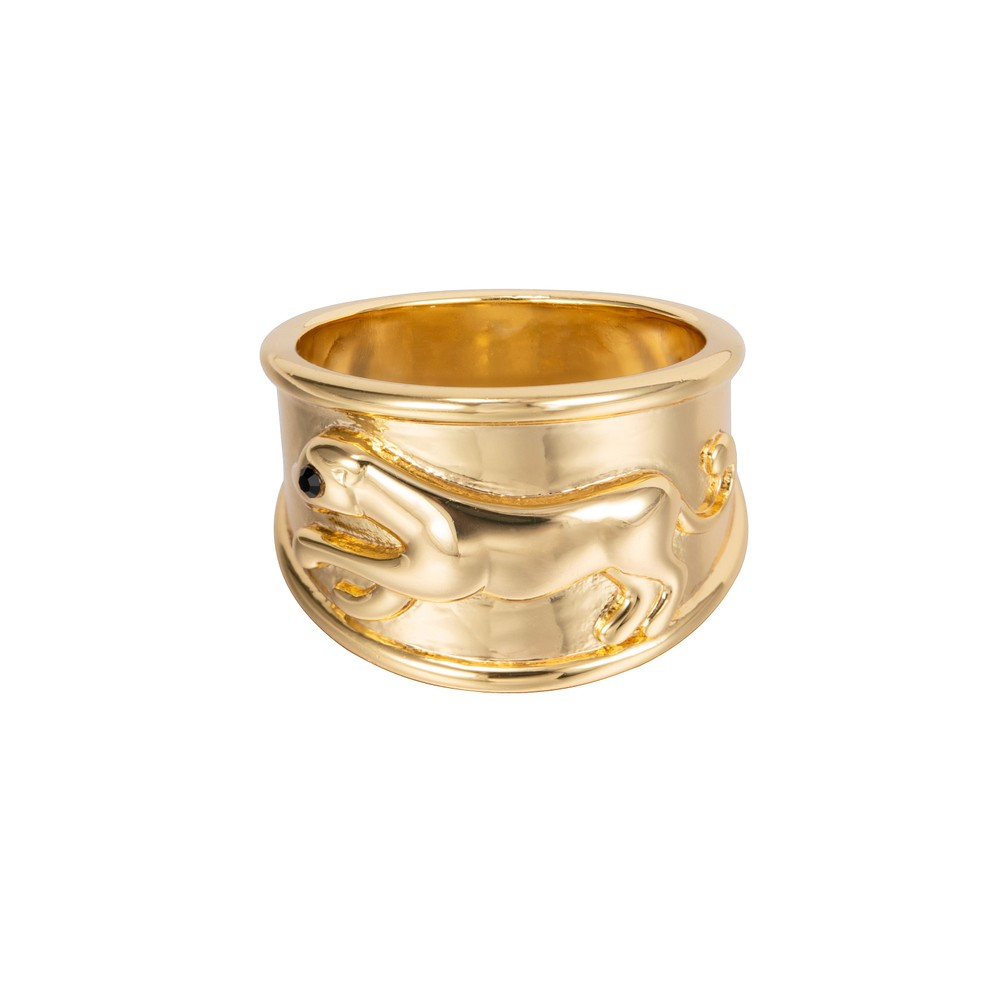 Celeste Starre Black Panther Ring Gold