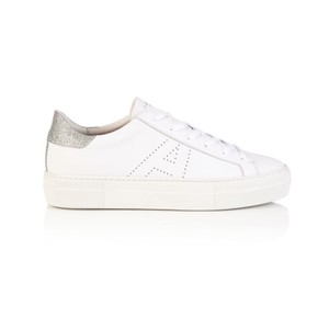 Air & Grace Roxy Lea Trainers in White & Silver Glitter