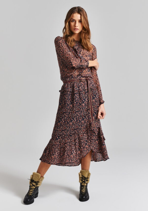 Moliin Dagmar Dress in Peacoat Multicoloured