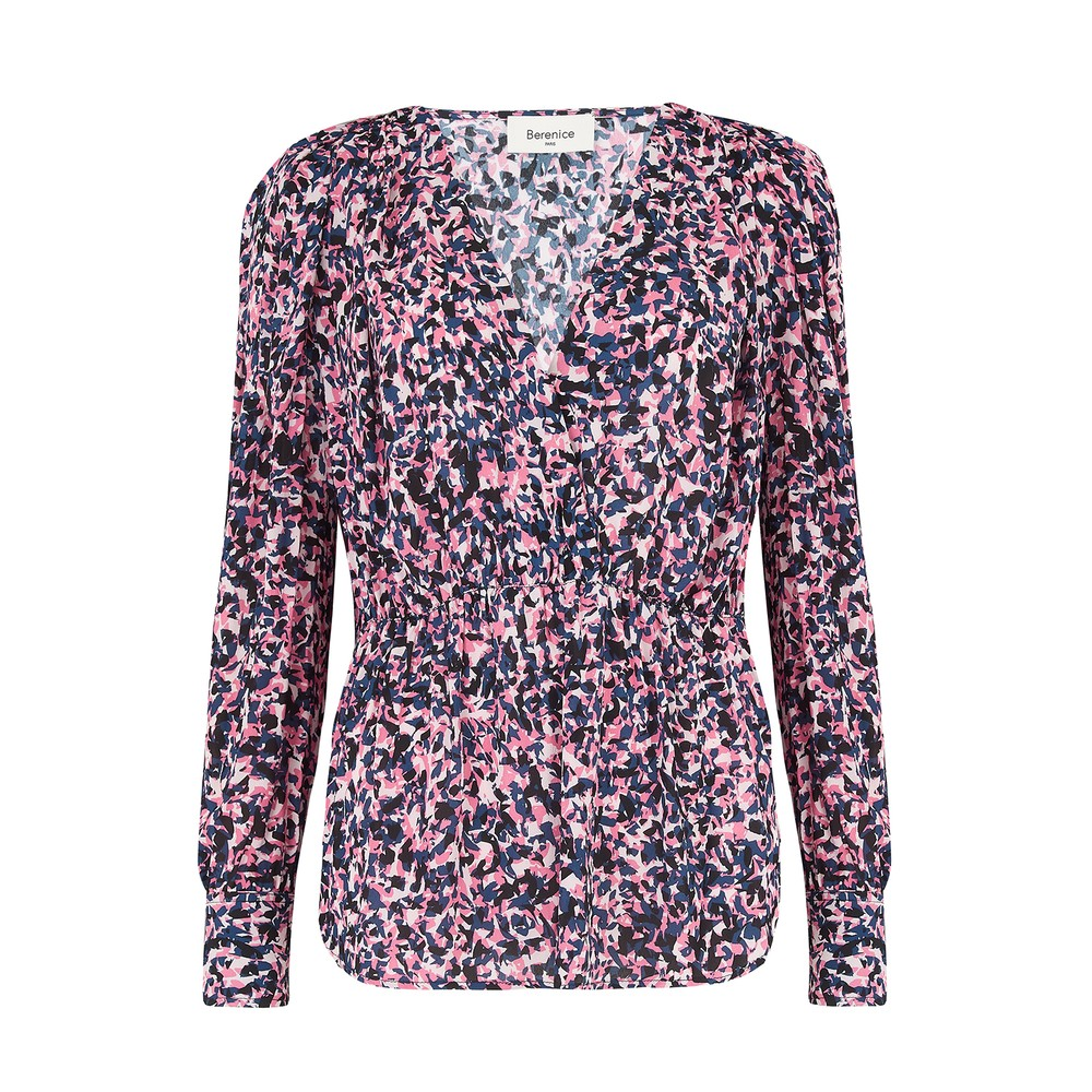 Berenice Tory Blouse in Pink Pop Print Pink