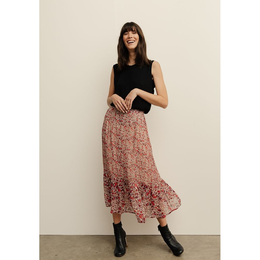 Lily & Lionel Carrie Skirt in Wild Rose Pink