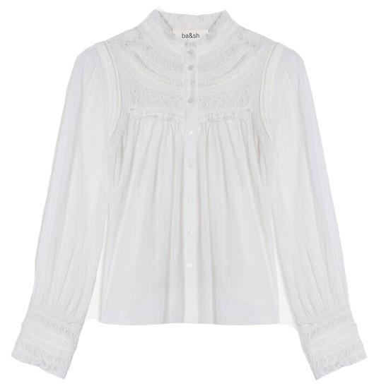 Ba&sh Leaf Blouse in White White