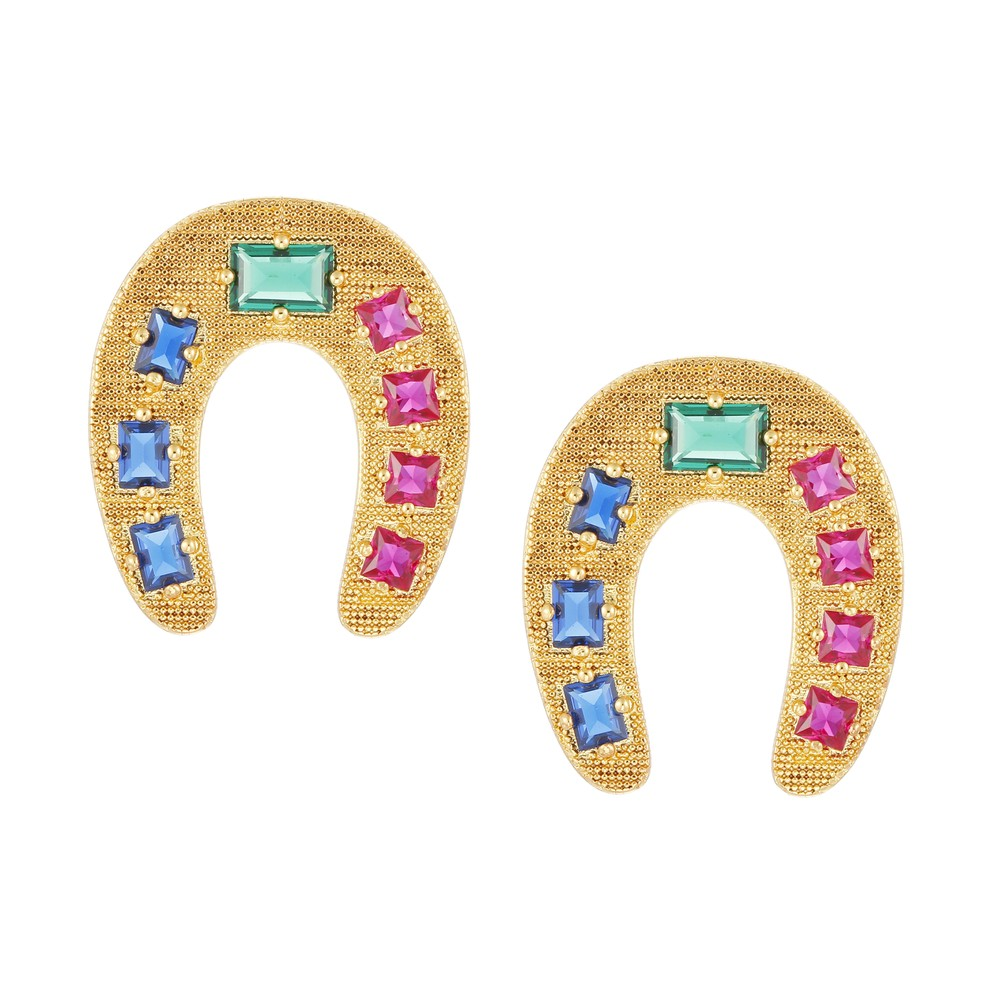 Celeste Starre Lucky Ranch Earrings Gold
