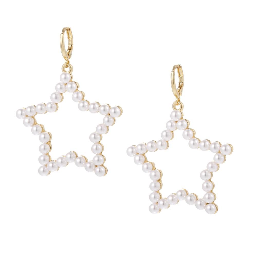 Celeste Starre North Star Earrings Gold