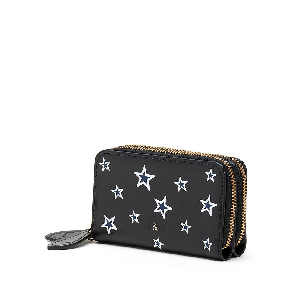 Bell & Fox Ava Mini Purse in Black Star Multicoloured