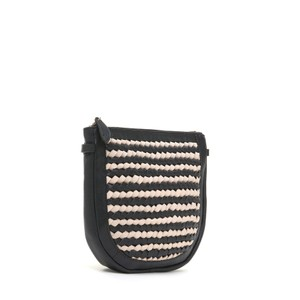 Bell & Fox Caro Weave Croosbody Bag in Black/Powder