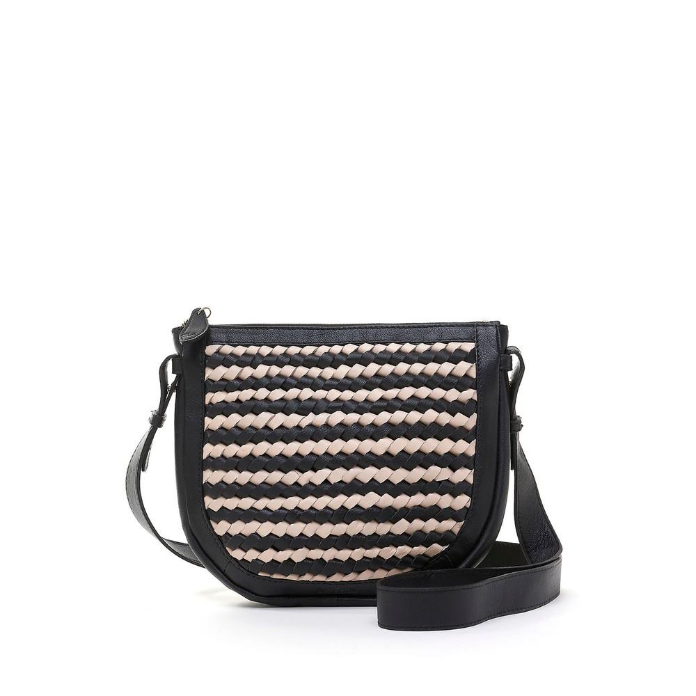 Bell & Fox Caro Weave Croosbody Bag in Black/Powder Multicoloured