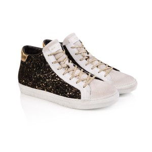 Air & Grace Alto Suede High Top Trainer in Black/Gold