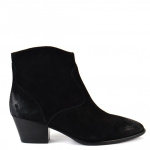 Ash Heidi Boots in Brushed Black Suede