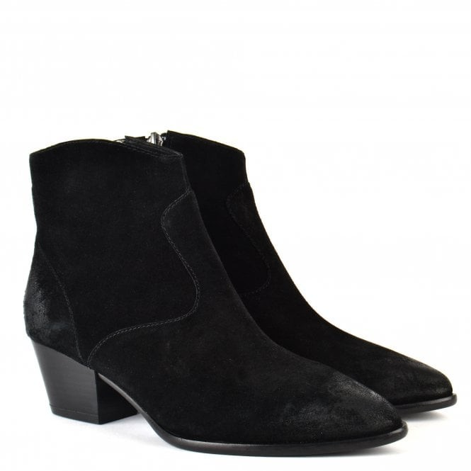 Ash Heidi Boots in Brushed Black Suede Black